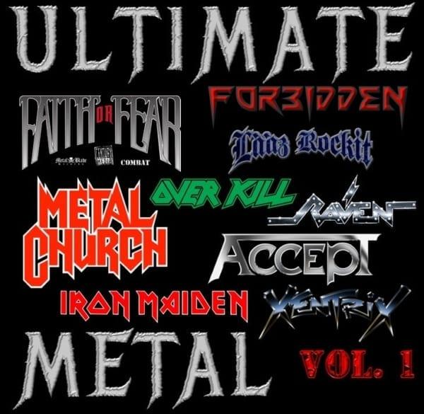 Various Artists - (Faith Or Fear / Forbidden / Raven / Accept / Metal Church / Lääz Rockit / Xentrix / Overkill / Iron Maiden) - Ultimate Metal Vol. 1 (2020) 2 CD SET 1